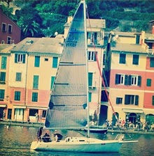 J/92s sailing off Portofino, Italy on the Mediterannean