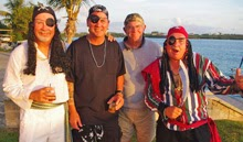 "Steve Black and ""pirate friends"" on Caribbean 1500 Rally on Nanny Cay"