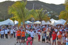 BVI regatta party on beach