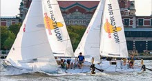 J/24s sailing Manhattan yacht club regatta