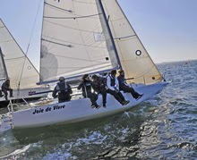 J/80 sailing off Netherlands- Laura Vroon