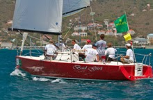 J/100 bad girl sailing St Thomas regatta