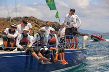 J/120 sailing Caribbean regattas