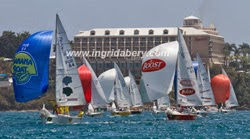 IC24s sailing St Thomas regatta