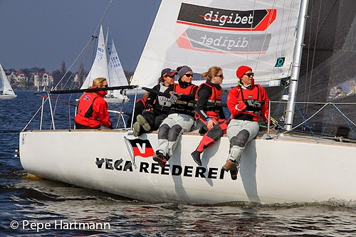 J/24 German women's sailing team