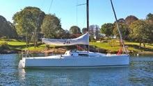 J/88 one-design sailboat off Newport, RI