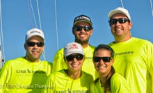 Stephanie Roble and Taylor Canfield sailing at St Thomas Regatta