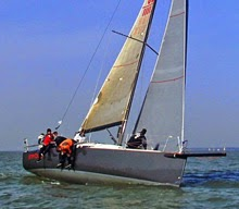 J/111 sailing upwind at Warsash Spring Series