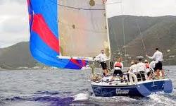 J/120 sailing St Barts regatta