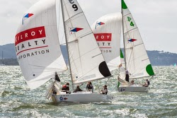 J/22 sailboats- match racing on San Francisco Bay