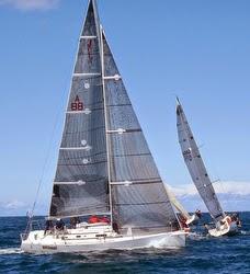 J/97 sailing off Sydney Harbour, Australia