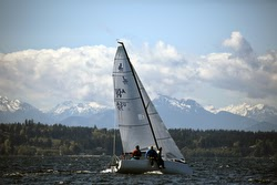 J/70 sailing on Puget Sound