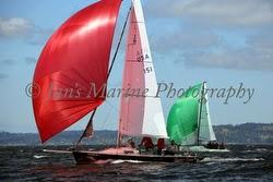 J/80s sailing on Puget Sound
