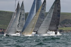 J/111 one-designs starting- Dartmouth, England