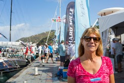 Daniella sailing on J/109 women's team from St Barths