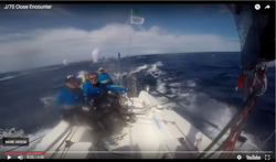 J/70 Worlds planing video crash
