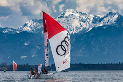 J/70s sailing Chiemsee in Deutsche Segel-Bundesliga