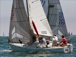 J/24 sailing Long Beach Race Week