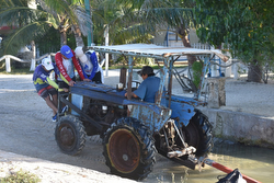 J/24 Yucatan Mexico launching tractor
