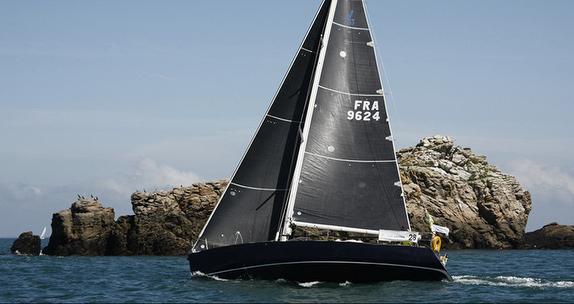 J/120 sailing off France