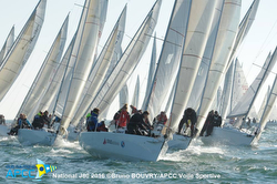 J/80s sailing French Nationals