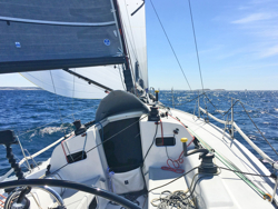 J/111 sailing doublehanded