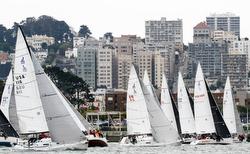 J/105s sailing San Francisco Bay