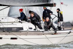 J/112E sport cruiser winning IRC 1 in Hamble Winter series