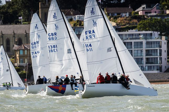 J/70s sailing off Cowes
