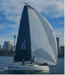 J/88 sailing on Sydney Harbour, Australia