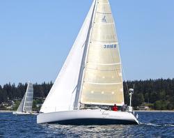 J/133 sailing Race to Straits