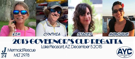 Arizona YC J/24 women's sailing team