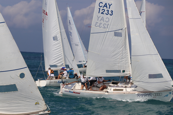 J/22s sailing on Montego Bay, Jamaica