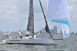 J/88 sailing at St Petersburg, FL