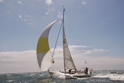 J/105 sailing double-handed- North Sea
