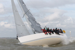 J/109 sailing Warsash Spring series