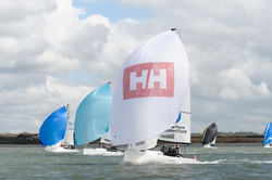 J/70 sailing Helly Hansen Warsash series