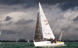 J/80 sailing French Nationals off La Rochelle, France