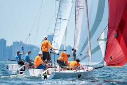 J/70s sailing Chicago NOOD Helly Hansen Regatta