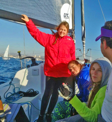 J/88 women sailors having fun in Chile!