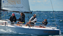 Brandon Flack and family sailing J/70