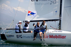 J/70 sailing Swiss Sailing League