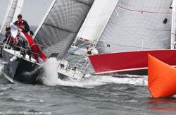 J/105 sailing college big boat regatta