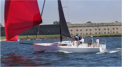 J/88 sailing off Newport