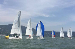 J/70s sailing on Valle de Bravo, Mexico