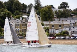 J/80s sailing off Cowes