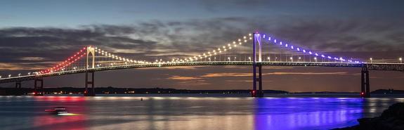 Sailing Newport Bridge