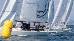J/70s sailing Italy