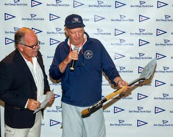 Tom Ehman- wins Silver Shovel Trophy- J/105 Masters sailing off San Diego, CA