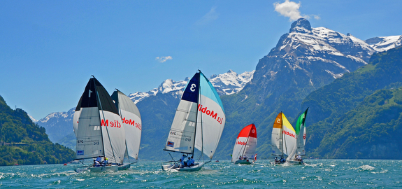 J/70s sailing in Switzerland